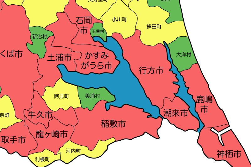 WOMBAT: 茨城県の合併その9 行方市